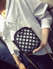 Fashion White Pineapple Decorated Hollow Out Simple Shoulder Bag
