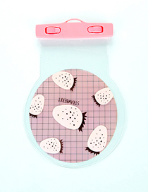 Fashion Pink Strawberry Pattern Decorated Color Matching Simple Phone Cover