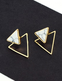 Fashion Gold Color Triangle Shape Decorated Simple Earrings