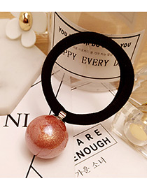 Elegant Pink Round Ball Decorated Color Matching Simple Hair Band
