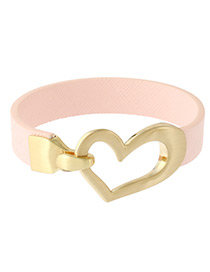 Fashion Pink Heart Shape Decorated Color Matching Bracelet