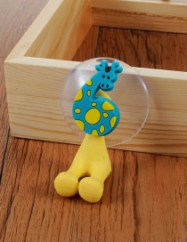 Fashion Blue Giraffe Shape Pattern Decorated Simple Toothbrush Holder