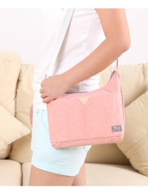 Fashion Pink Triangle Shape Decorated Long Chain Shoulder Bags
