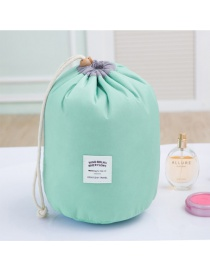 Fashion Green Pure Color Decorated Pure Color Simple Design Make Up Bags