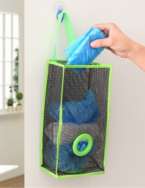 Fashion Green Mesh Shape Decorated Hanging Design Color Matching Storage Bag