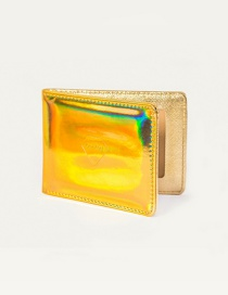 Fashion Gold Color Pure Color Decorated Square Shape Certificate Wallet