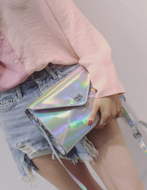 Fashion Multi-color Buckle Shape Deacorated Pure Color Simple Shoulder Bag