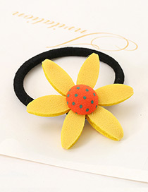 Lovely Yellow Sunflower Shape Decorated Simple Baby Hair Band