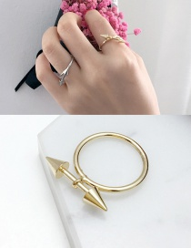 Elegant Gold Color Arrows Decorated Pure Color Simple Ring