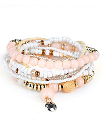 Fashion  Bead Decorated Multi-layer Design Simple Bracelet