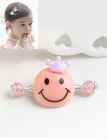 Cute Orange Smiling Face Decorated Simple Baby Hairpin