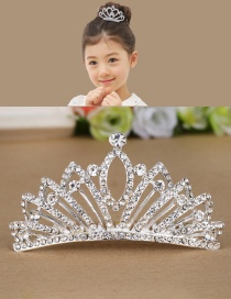 Cute Silver Color Pure Color Decorated Simple Diadema Children Hair Clasp