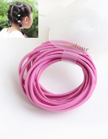 Cute Light Plum-red Pure Color Decorated Simple Round Hair Band (10pcs)