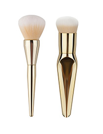 Lovely Gold Color Mermaid Design Color-matching Decorated Cosmetic Brush (2pcs)