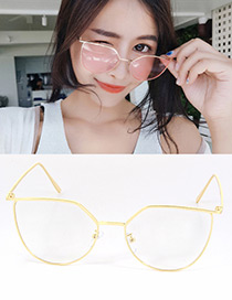 Fashion Gold Color Pure Color Decorated Simple Optical Glasses
