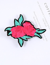 Lovely Plum-red Rose Shape Decorated Simple Baby Hairpin