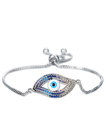Personality Silver Color Hollow Out Eye Decorated Bracelet