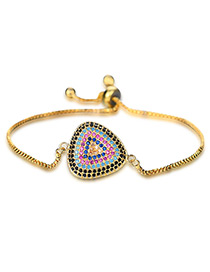 Personality Gold Color Triangle Shape Decorated Bracelet
