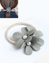 Fashion Light Gray Double Flower Decorated Hair Band