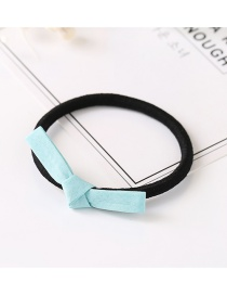 Fashion Light Blue Bowknot Decorated Hair Band