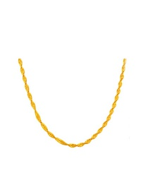 Luxury Gold Color Pure Color Decorated Simple Long Chain Necklace