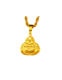 Elegant Gold Color Buddha Shape Pendant Decorated Simple Pendant (not Including Chain )