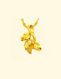 Fashion Gold Color Leaf Shape Decorated Simple Pure Color Pendant (not Including Chain )