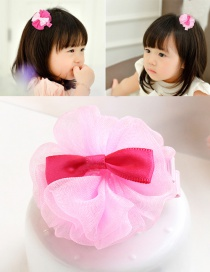 Lovely Pink Flower&bowknot Decorated Color Matching Hairpin