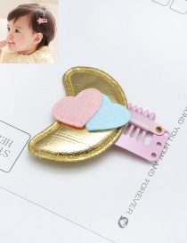 Lovely Blue Heart Shape Decorated Color Matching Hairpin