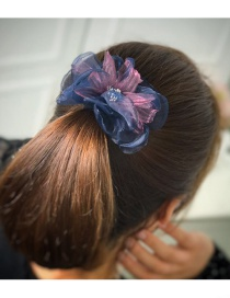 Elegant Blue Flower Shape Decorated Hairpin