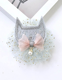 Fashion Light Gray Cartoon Fox Decorated Pure Color Hairpin