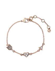 Fashion Gold Color Heart Shape Decorated Pure Color Bracelet