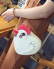 Fashion White Little Chick Shape Decorated Shoulder Bag