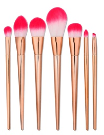 Fashion Rose Gold Color Matching Decorated Mermaid Makeup Brush(7pcs)