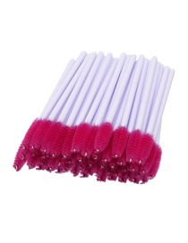 Fashion Pink Color Matching Decorated Eyelash Brush (50pcs)