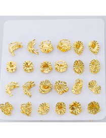 Fashion Gold Color Butterfly&stars Decorated Pure Color Rings (12pcs)
