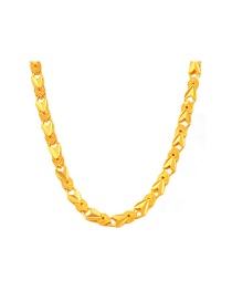 Fashion Gold Color Heart Shape Decorated Hollow Out Necklace