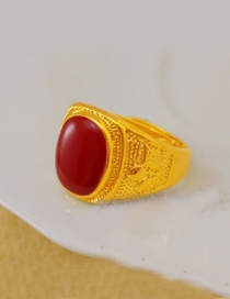 Fashion Red Color Matching Decorated Opening Rings