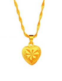 Fashion Gold Color Heart Shape Decorated Pure Color Pendant ( Without Chain)