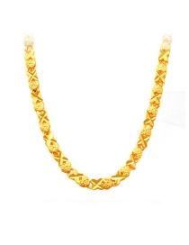 Fashion Gold Color Cross&heart Shape Decorated Pure Color Necklace