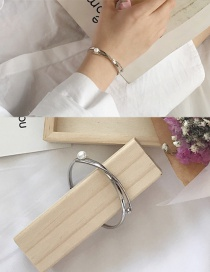 Fashion Silver Color Pearl Decorated Pure Color Bracelet