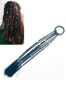 Fashion Black Heart Decorated Weave Pure Color Hair Rope