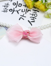 Fashion Pink Bowknot Shape Decorated Pure Color Hair Clip