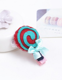 Fashion Red Lollipop Shape Decorated Pure Color Hair Clip