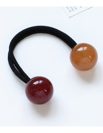 Fashion Brownish Red+light Brown Ball Shape Decortated Color Matching Hair Rope