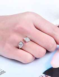 Fashion Silver Color Cone Shape Decorated Pure Color Ring