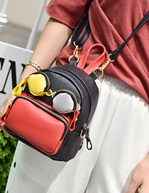 Fashion Multi-color Eyes shape Decorated Color Matching  Backpack