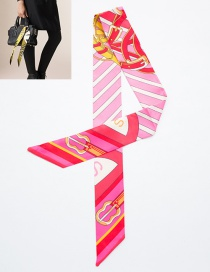 Fashion Pink Guitar Pattern Decorated Simple Scarf