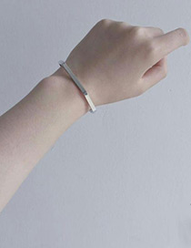 Personality Silver Color Polygon Shape Decorated Bracelet