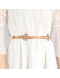 Fashion Gold Color Heart Shape Decorated Belt